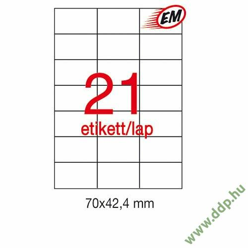 Etikett A1276 42,4x70mm 100ív LCA3136 Apli