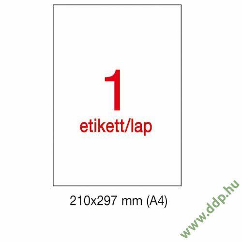 Etikett A1281 297x210mm 100ív LCA3141 Apli