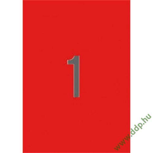 Etikett 210x297 20 íves piros APLI -LCA1601-