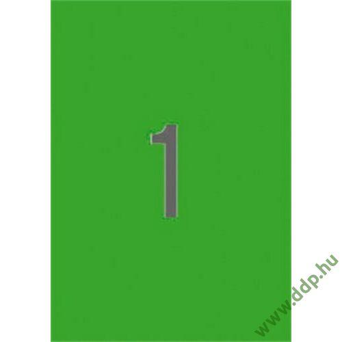 Etikett 210x297 20 íves zöld APLI -LCA1602-