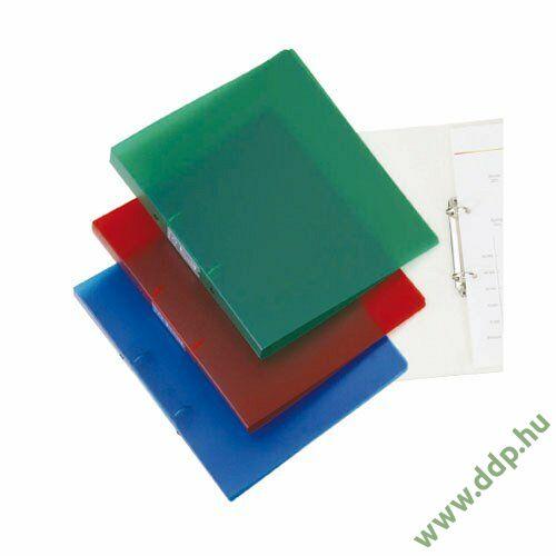 Gyűrűskönyv A/4 2 gyűrűs 20mm áttetsző kék Q-CONNECT -KF02910-