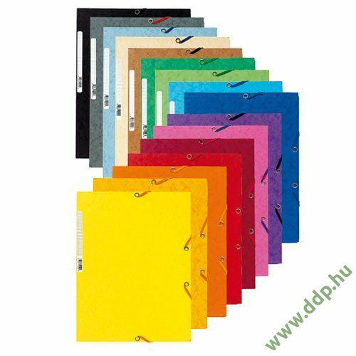 Iratgyűjtő gumis A/4 karton prespán Exacompta piros mappa -P2110-0589-