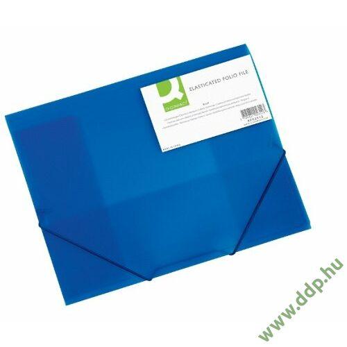 Iratgyűjtő gumis A/4 PP áttetsző kék mappa Q-CONNECT -KF02312-