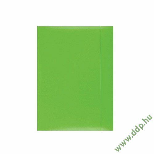 Iratgyűjtő gumismappa A/4 karton zöld Q-CONNECT/OFFICE PRODUCTS -21191131-02/KF15646-
