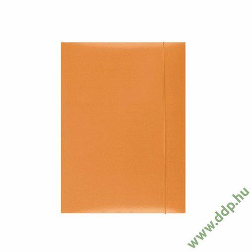 Iratgyűjtő gumismappa A/4 karton narancs Q-CONNECT/OFFICE PRODUCTS -21191131-07/KF15647-