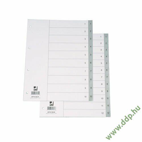 Regiszter A/4 A-Z PP műanyag betűregiszter Q-CONNECT elválasztólap -850254/KF01818-