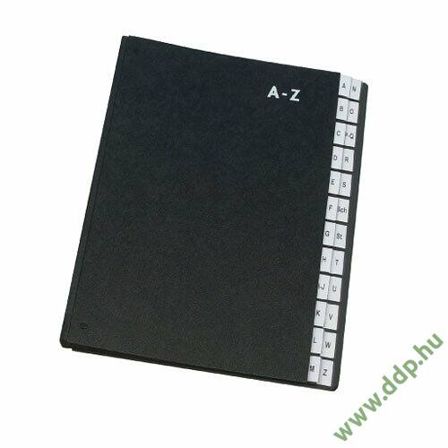 Rendezőkönyv A-Z fekete KF04563 előrendező Q-CONNECT