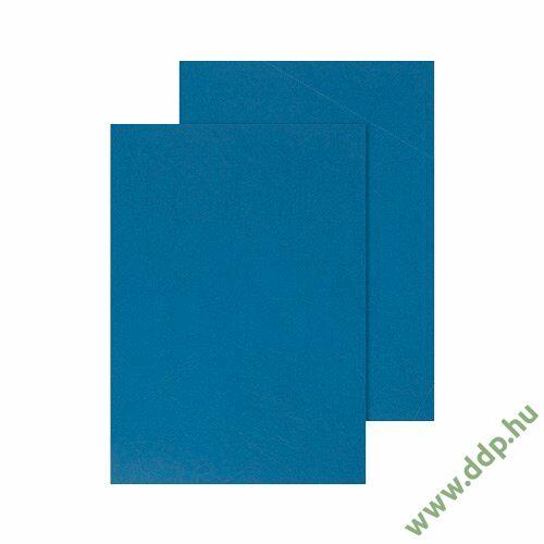 Spirálborító A/4 matt bőrmintás kék (Kiszerelés: 100db/csm) hátlap Q-CONNECT -KF00500-