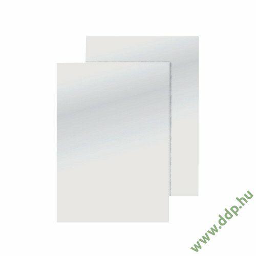 Spirálborító A/4 matt bőrmintás fehér (Kiszerelés: 100db/csm) hátlap Q-CONNECT -KF00502-