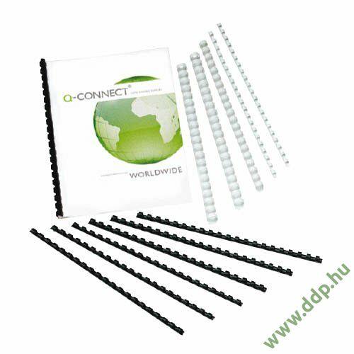 Spirál 16mm fekete műanyag (Kiszerelés: 100db/csm) Q-CONNECT -KF24024-