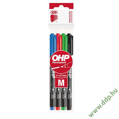 OHP marker készlet 4db-os ICO M alkoholos filc -9580040000-