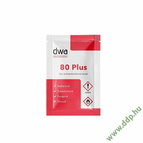 Nedves bőr-és felületfertőtlenítő DWA80Plus törlőkendő 10x1lap/dob
