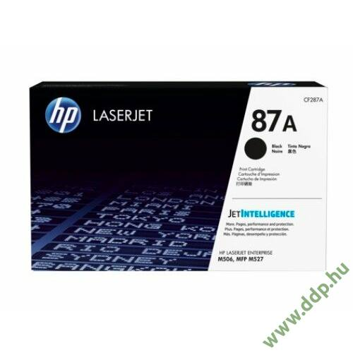 HP lézertoner CF287A No.87A fekete 9000 oldal
